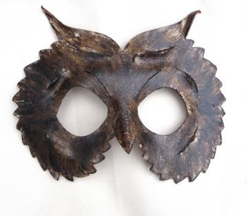 Genuine Handmade Leather Owl Mask
